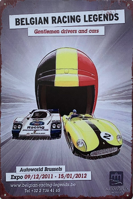 Retro metalen bord limited edition - Belgian racing legends