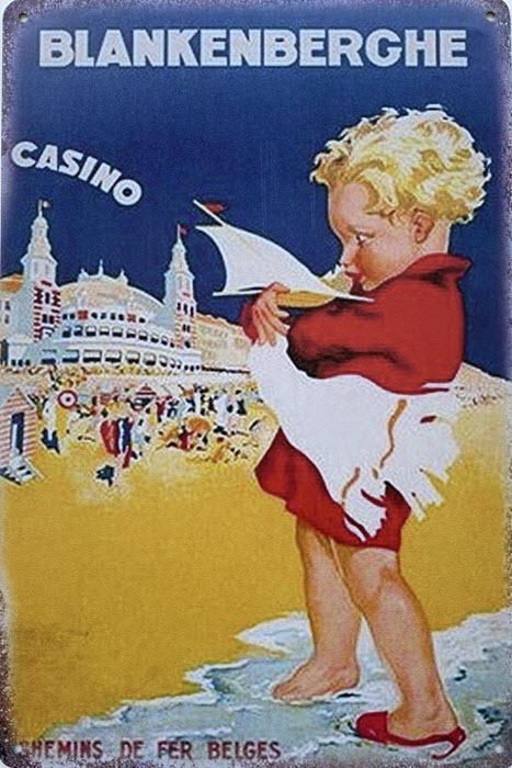 Retro metalen bord limited edition - Blankenberghe casino