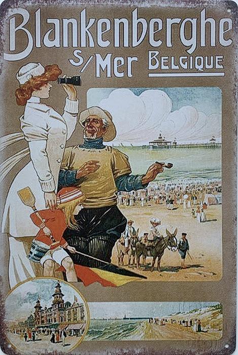 Retro metalen bord limited edition - Blankenberghe mer