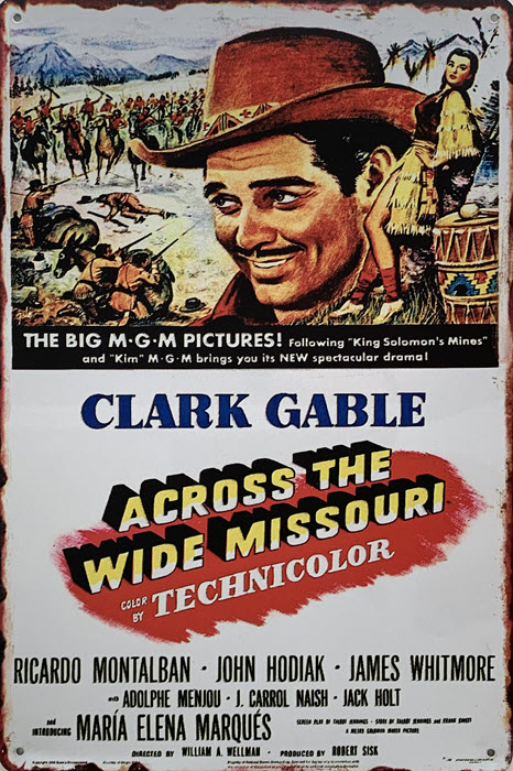 Retro metalen bord limited edition - Clark Gable