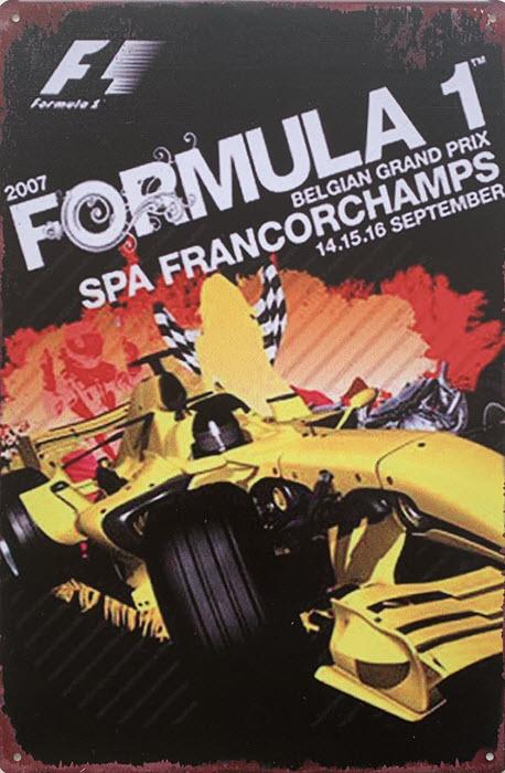 Retro metalen bord limited edition - Formula 1