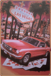 Retro metalen bord limited edition - Las Vegas