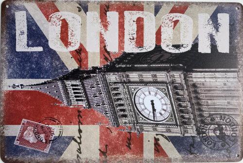 Retro metalen bord limited edition - London big ben