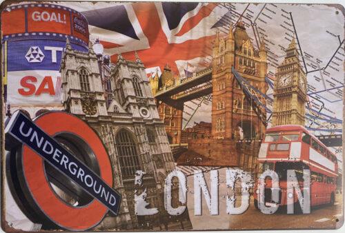 Retro metalen bord limited edition - London underground