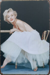 Retro metalen bord limited edition - Marilyn Monroe 1