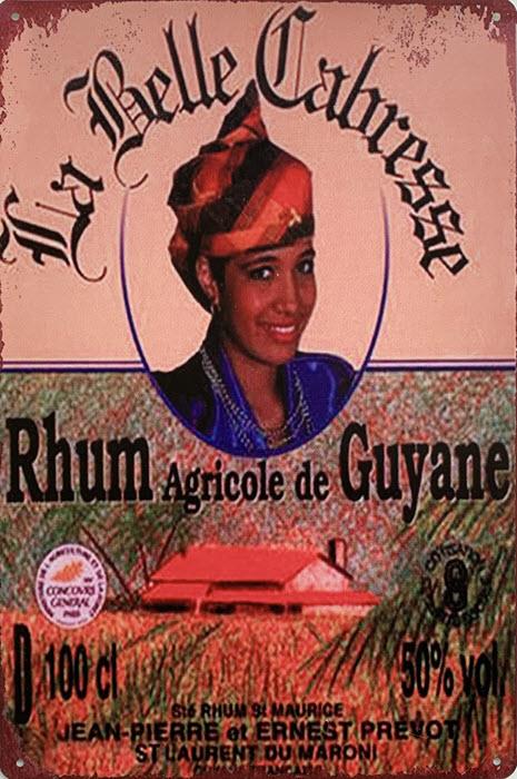 Retro metalen bord limited edition - Rhum agricole de Guyane