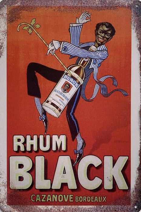 Retro metalen bord limited edition - Rhum black