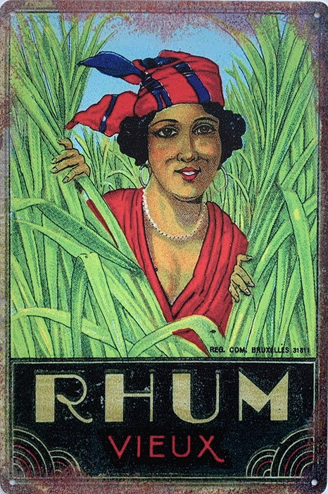 Retro metalen bord limited edition - Rhum vieux