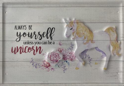 Retro metalen bord groot reliëf - Always be yourself