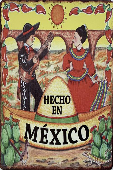 Retro metalen bord limited edition - Hecho en México