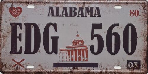 Retro metalen bord nummerplaat - Alabama