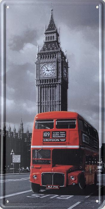 Retro metalen bord nummerplaat - Big Ben