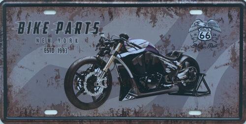 Retro metalen bord nummerplaat - Bike parts