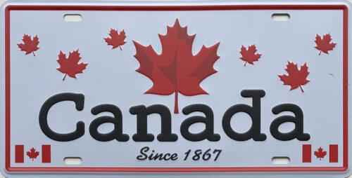 Retro metalen bord nummerplaat - Canada