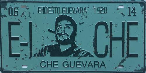 Retro metalen bord nummerplaat - Che Guevara