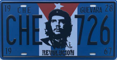 Retro metalen bord nummerplaat - Che Guevara Revolucion