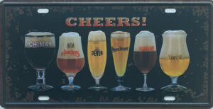 Retro metalen bord nummerplaat - Cheers