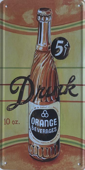 Retro metalen bord nummerplaat - Drink