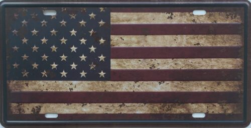Retro metalen bord nummerplaat - Flag United States