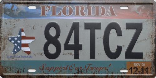 Retro metalen bord nummerplaat - Florida