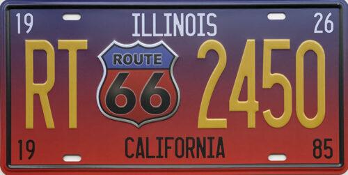 Retro metalen bord nummerplaat - Illinois California