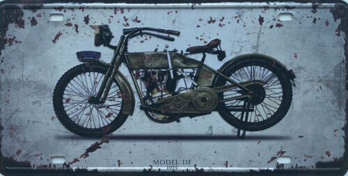 Retro metalen bord nummerplaat - Model 11F 1915