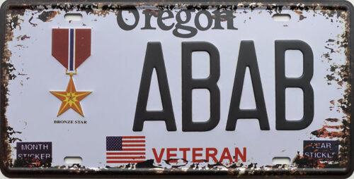 Retro metalen bord nummerplaat - Oregon