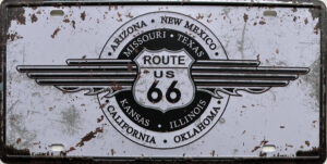Retro metalen bord nummerplaat - Route US 66