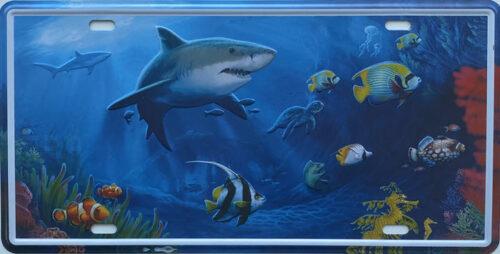 Retro metalen bord nummerplaat - The sea