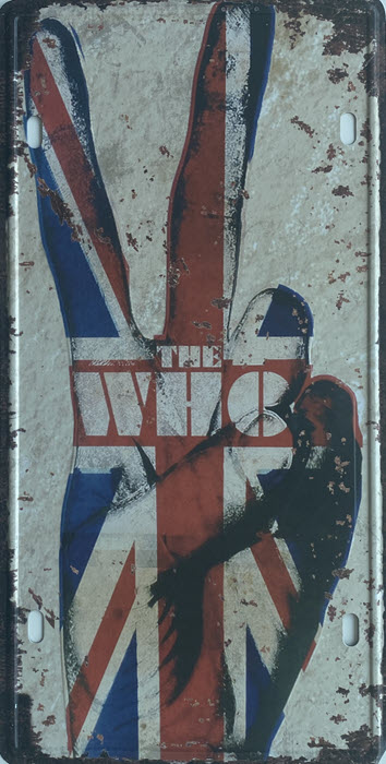 Retro metalen bord nummerplaat - The who