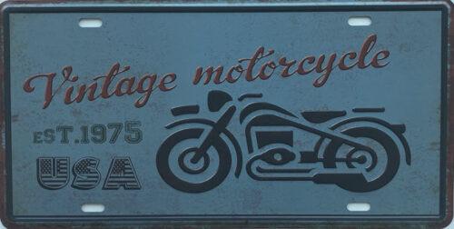 Retro metalen bord nummerplaat - Vintage motorcycle