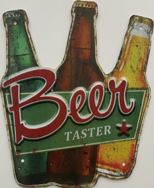 Retro metalen bord speciale vormen - Beer taster