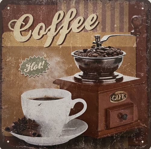 Retro metalen bord speciale vormen - Coffee hot