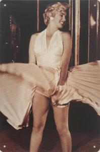 Retro metalen bord vlak - Marilyn Monroe