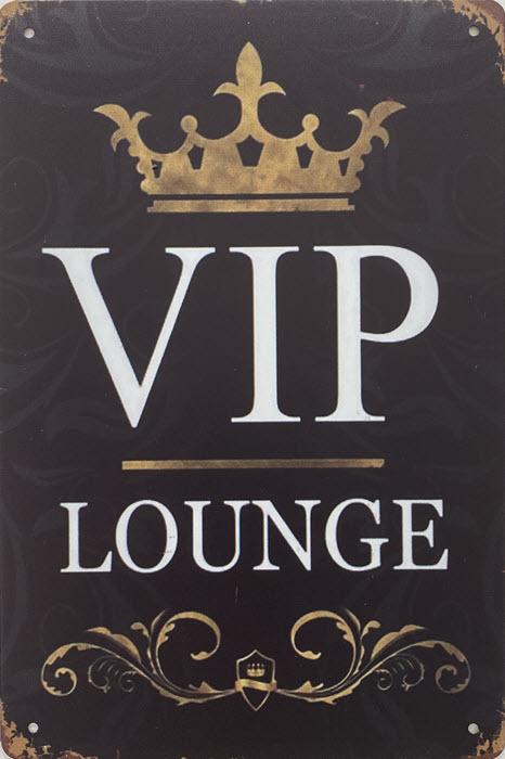 Retro metalen bord vlak - VIP lounge