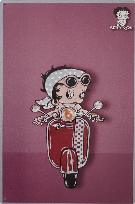 Retro metalen bord limited edition - Betty Boop