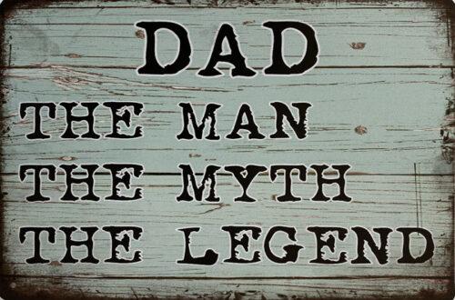 Retro metalen bord vlak - Dad the man