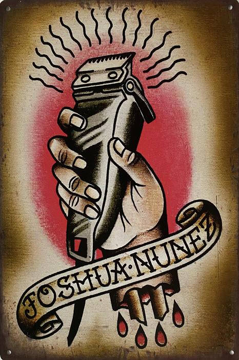 Retro metalen bord limited edition - Joshua Nunez