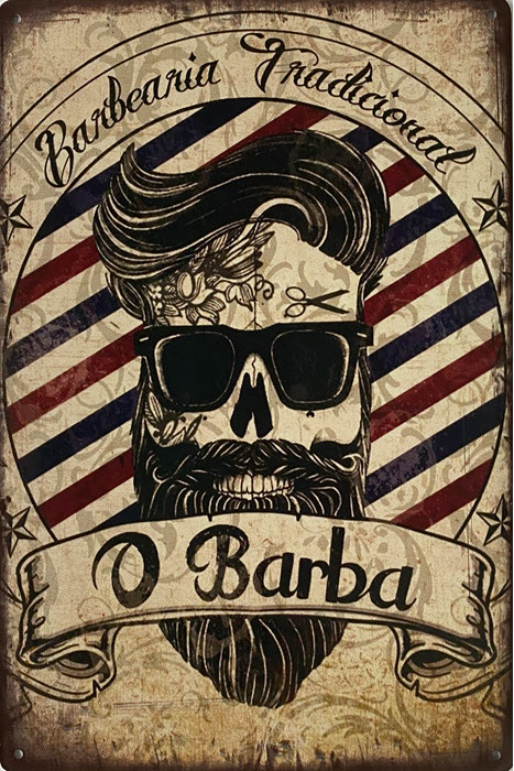 Retro metalen bord limited edition - O barba