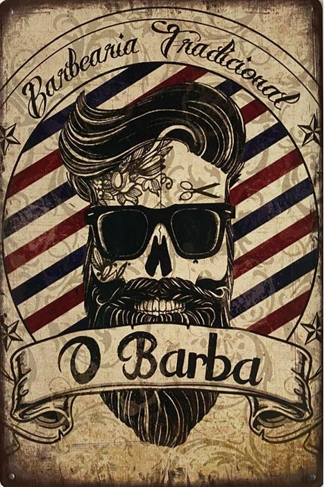 Retro metalen bord limited edition - O barba