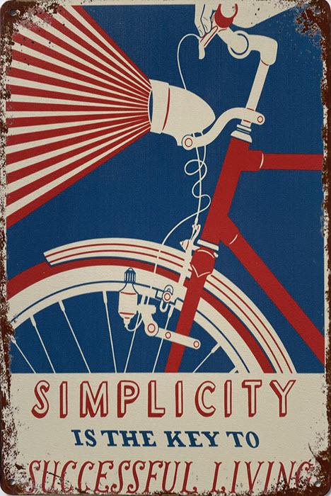 Retro metalen bord limited edition - Simplicity