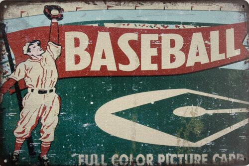Retro metalen bord limited edition - Baseball