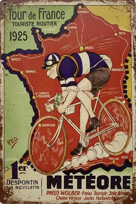 Retro metalen bord limited edition - Tour de France
