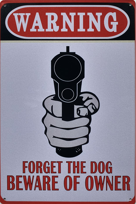 Retro metalen bord limited edition - Warning forget the dog