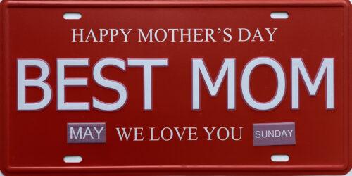 Retro metalen bord nummerplaat - Best mom