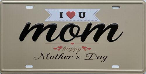 Retro metalen bord nummerplaat - Happy mother's day