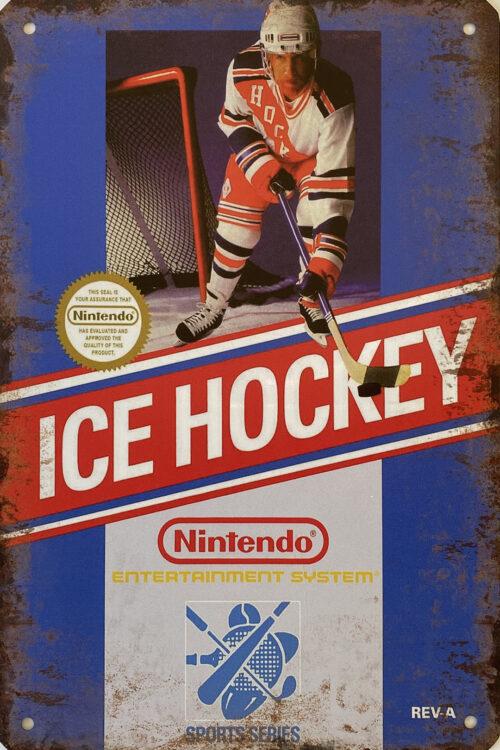 Retro metalen bord vlak - Ice hockey